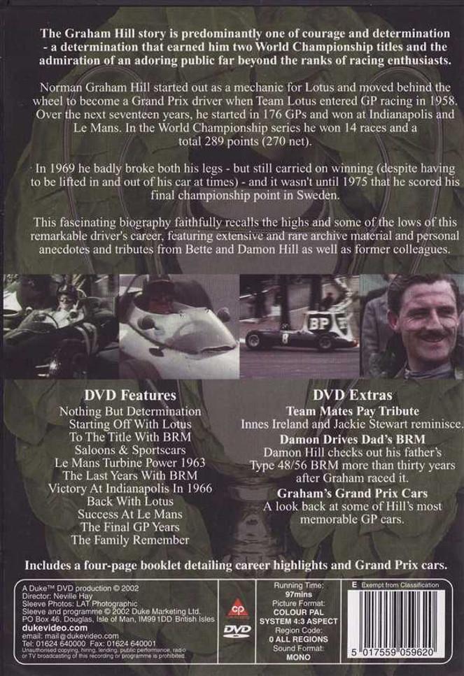 Champion Hill: Profile of a Legend DVD