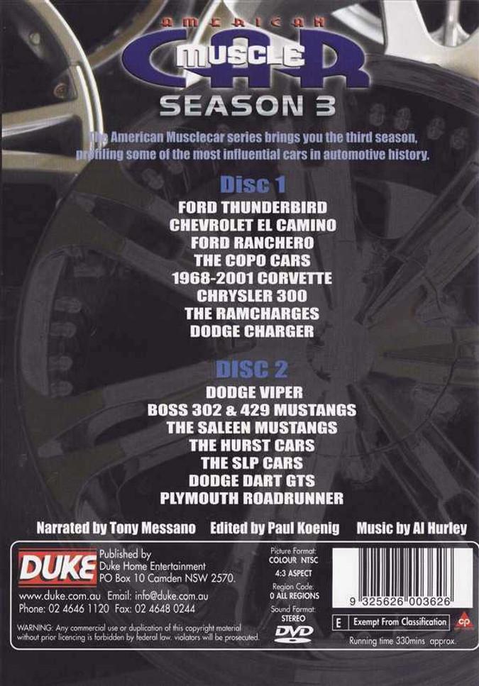 American Muscle Car: Seasen 3 (2 DVD Set)