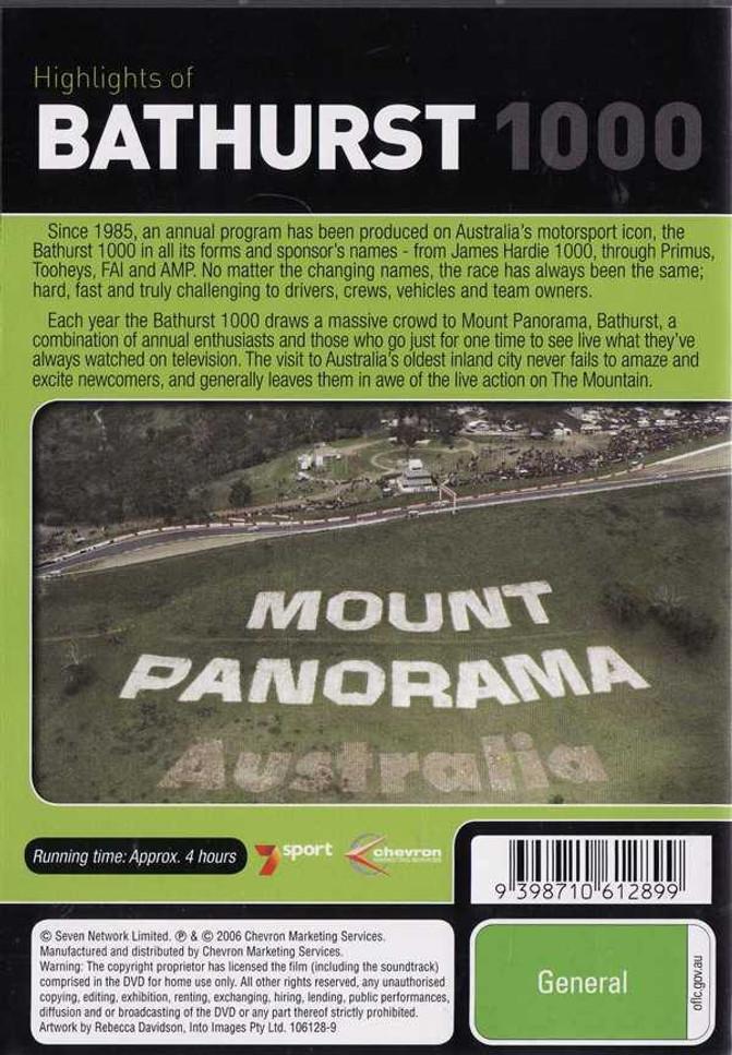 Highlights of Bathurst 1000 1988, 1989, 1990 DVD