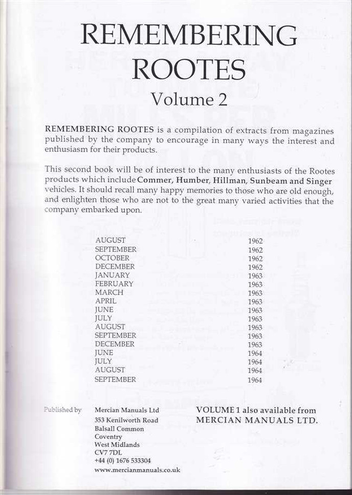 Remembering Rootes: Volume 2