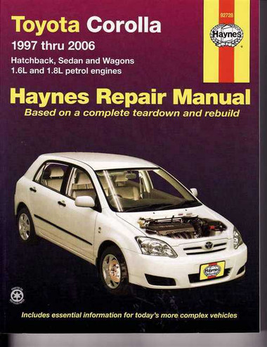 Haynes Workshop Manual Toyota Corolla 2007-2015 1.8L Petrol ZRE ...
