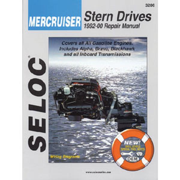 Seloc Publishing Manual MerCruiser 92-00 Gas & Drives I/B 3206