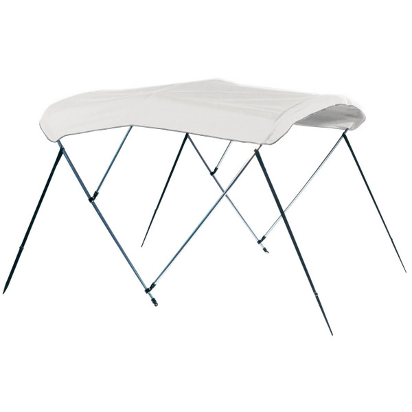 """Carver Covers Assembled 3 Bow Frame & Fabric, 60"""" H X 6' L, White Vinyl w/ Boot"""