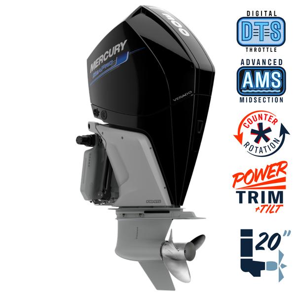 """New Mercury 300CL SeaPro AMS 5.44"""" 1.75  20"""" Shaft Power Trim & Tilt Outboard 13000086A"""