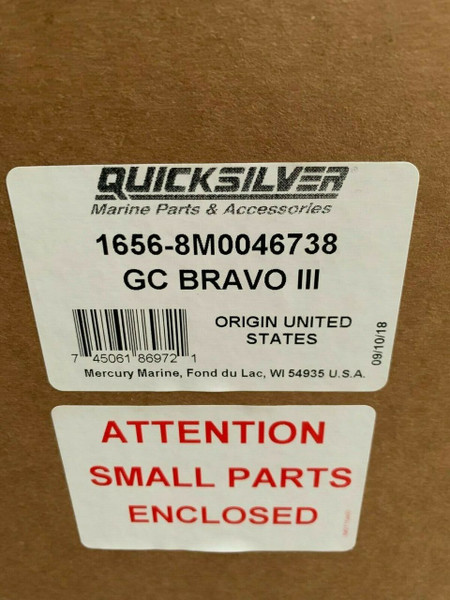 OEM MerCruiser Bravo 3 Lower Unit 1.81 2.00 2.20 Outdrive 8866G09 8M0086825 8M0046738