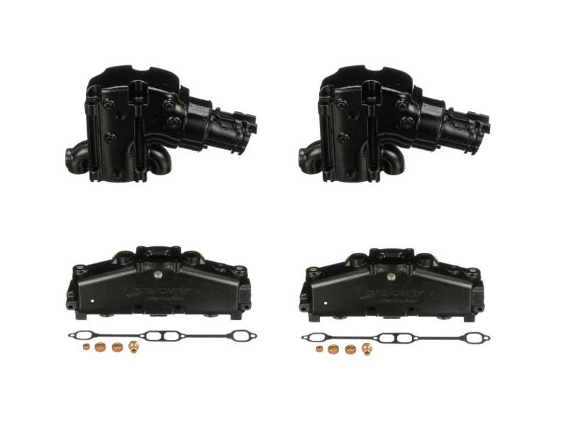 OEM MerCruiser 350/5.7/5.0/ dry joint SB V8 Exhaust Manifold & Riser Kit (14 Degree)