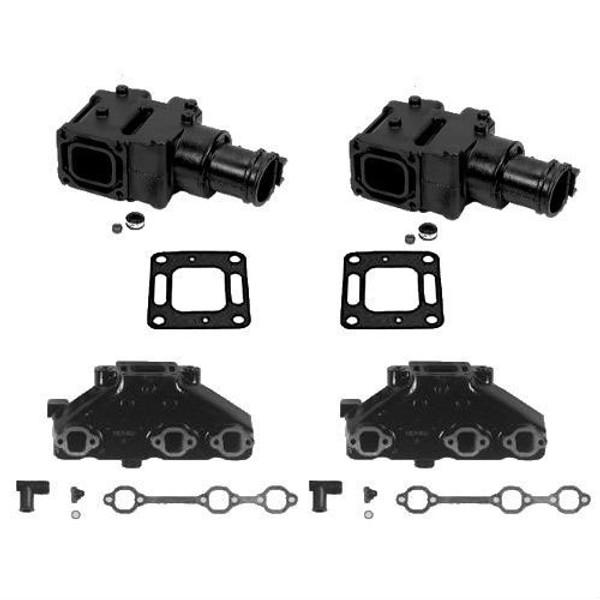 OEM MerCruiser 4.3 V6 Exhaust Manifold and Riser Kit (4 inch) 1983-2002