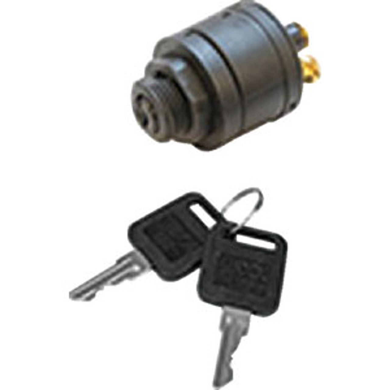 """Marine IGNITION STARTER SWITCH 4 Position Acc.-Off-Ign.-Start Long Shaft 13//16/"""""""