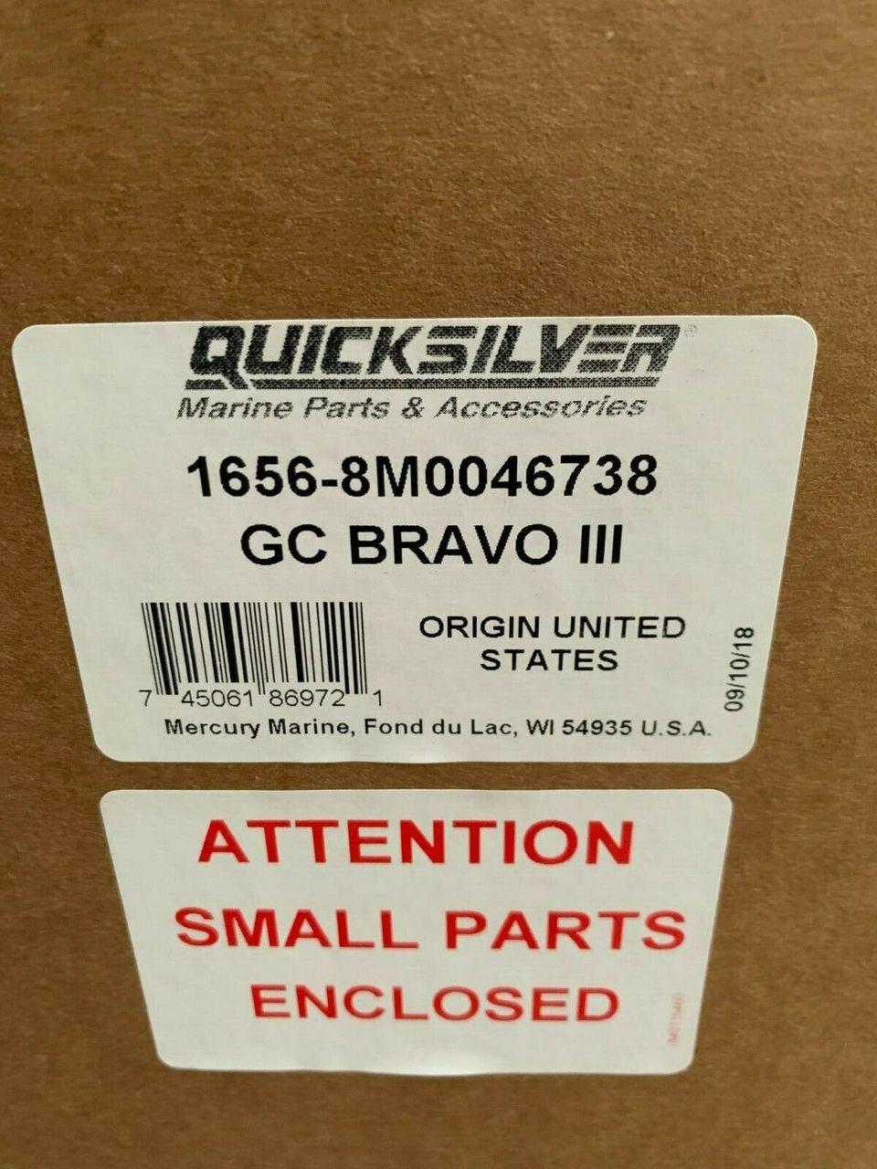 OEM MerCruiser Bravo 3 Lower Unit 1 81 2 00 2 20 Outdrive 8866G09 8M0086825  8M0046738