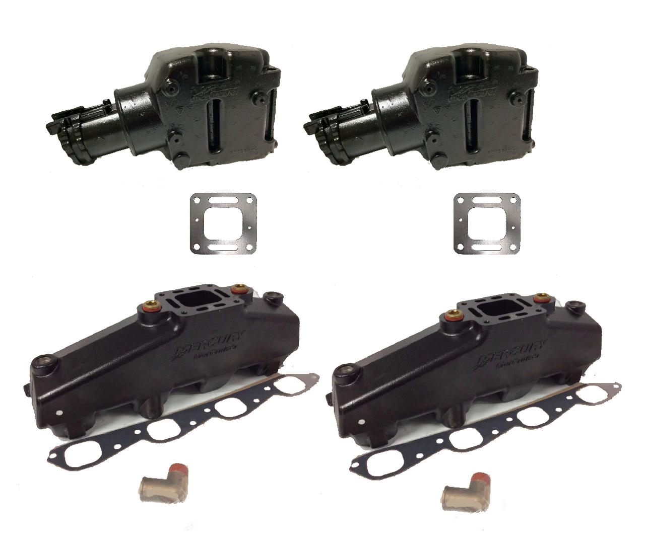 OEM MerCruiser 7 4 / 454 / 502 Exhaust Manifold and Riser kit 807078T08