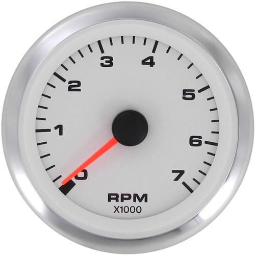 Sierra Premier Pro White Domed 4K Diesel Tachometer 62548P