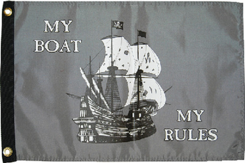 Taylor Flag 12X18 My Boat My Rules 1613
