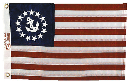 Taylor 12 X 18 Sewn Us Yacht Ensign 8118