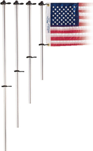 Taylor Aluminum Flag Pole W/ Flag Clips 916