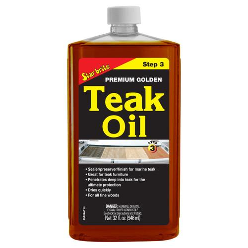 Starbrite Premium Golden Teak Oil Quart 85132