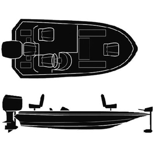 Seachoice 18'6 Wide Bass Boat Cover 50-97581