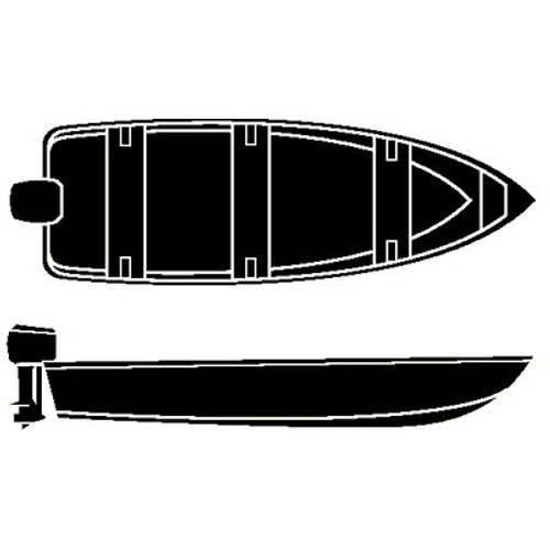Seachoice 16'6 V-Hull Fish Wd Cover 50-97681
