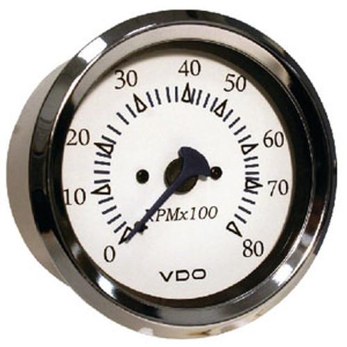 Seachoice 8000Rpm Tach Outboard Chro/White 50-15161
