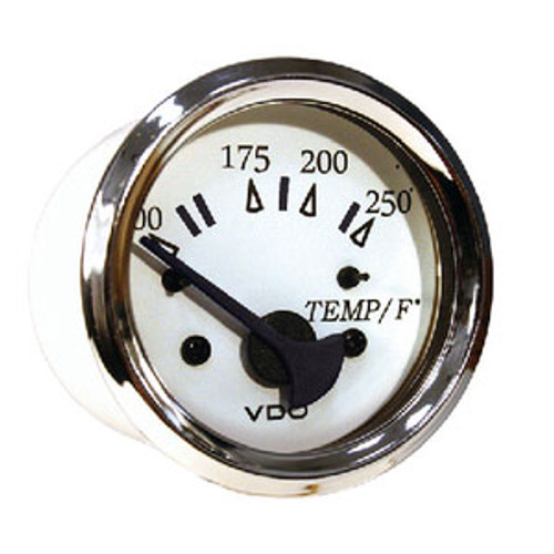 Seachoice 250F Engine Temp Gage Chr/White 50-15201