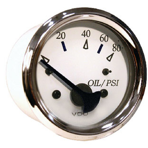 Seachoice Oil Pressure Gage Chro/White 50-15211