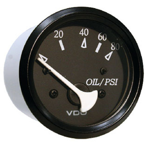 Seachoice Oil Pressure Gage Black/Black 50-15221