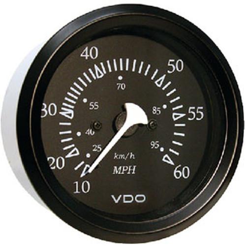 Seachoice 60Mph Speedometer Black/Black 50-15231