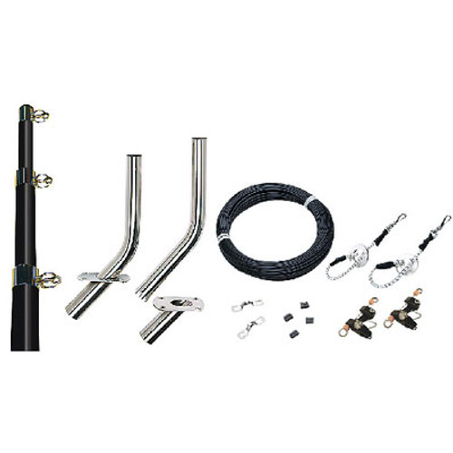 Seachoice Outrigger Kit-15' Black Complet 88261