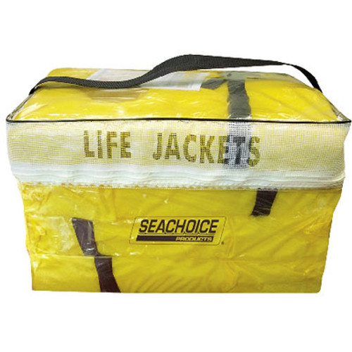 Seachoice Boat Yellow Adult Life Vest 4 Pack withBag Type II 86010