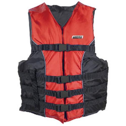 Seachoice 4-Belt Ski Vest Red L/XL 3440 Red L/XL-85390