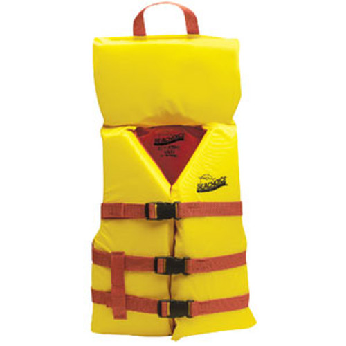 Black//Yellow 3 Belt Univ Vest Xl Seachoice 86540