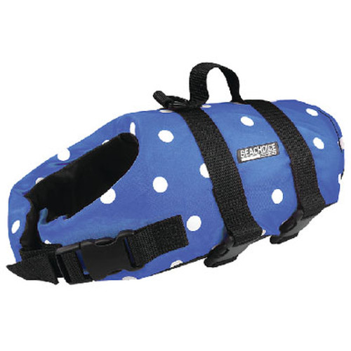 Seachoice Dog Vest Blue Polka Dot Small Dv-S-86280
