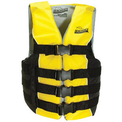 Seachoice Black/Yellow 4 Belt Vest-Lg/XL 50-86420