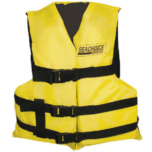 Seachoice Black/Yellow 3 Belt Vest Youth Epe2111Y-86520