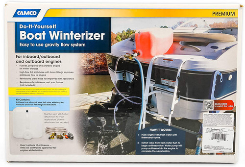 Camco Do-It-Yourself Marine Boat Engine Winterizing Anti-freeze Flushing Kit 65501