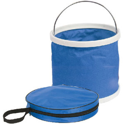 Camco Collapsible Bucket Blue&White 42993