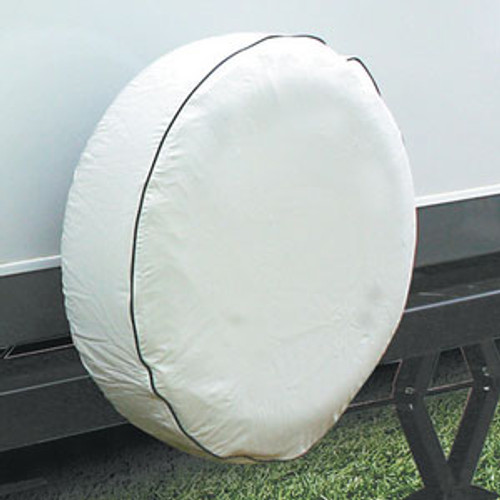 """Camco Cover Spare Tire N 24"""" Vnyl Arctic White 45348"""