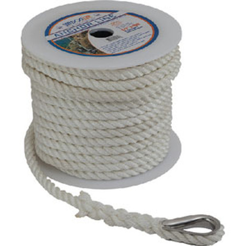 "Sea-Dog Line Anchor Line Wh 3/8"" x 150' 1/Pk 301110150Wh-1"