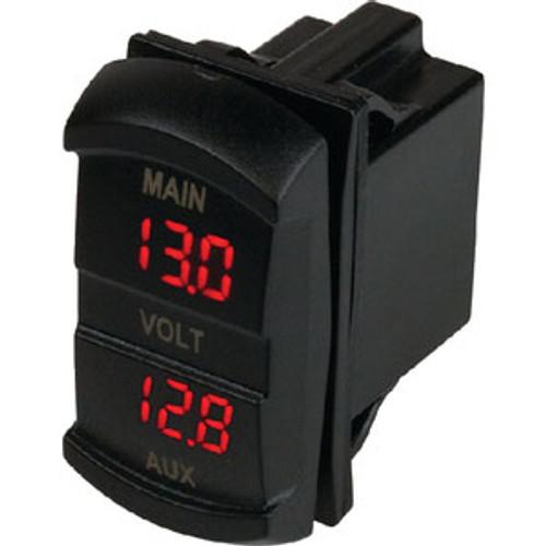 Sea-Dog Line Dual Voltmeter Rocker Switch 421636-1
