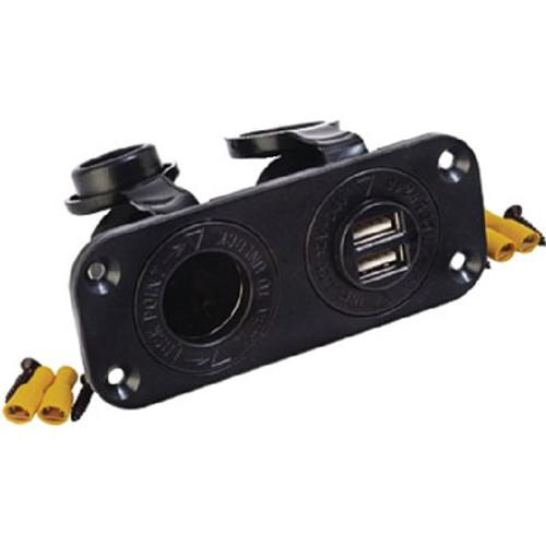 Sea-Dog Line Double USB & Power Socket 426505-1