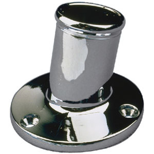 Sea-Dog Line Chrome Brass Pole Socket-1 1/4 492213-1