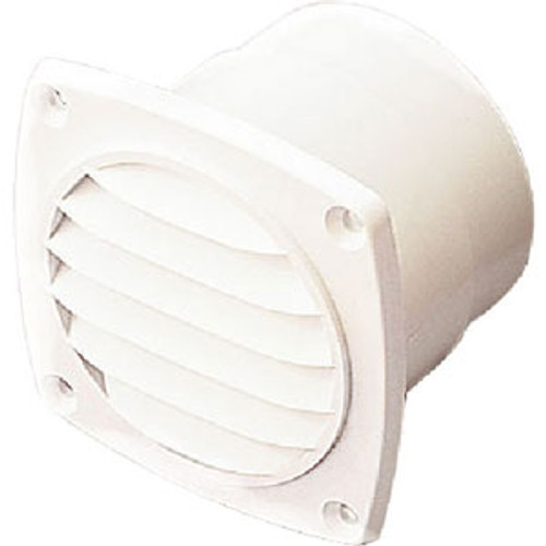 Sea-Dog Line Vent 3 Square with Flange White 337315