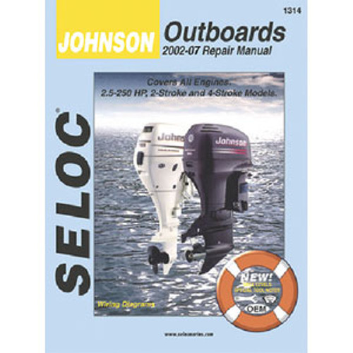Seloc Publishing Manual Johnson/Evinrude 73-91 60-235hp 3-6Cy 1308