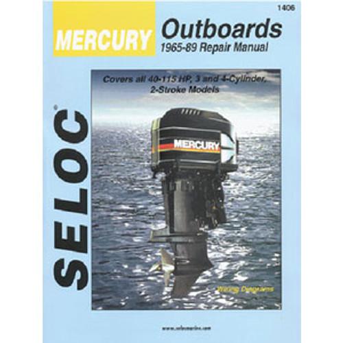 Seloc Publishing Manual Mercury 65-89 45-115hp 3-4Cyl 1406