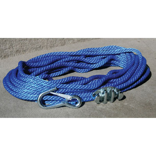 Panther Anchor Rope 50' with Cleat & Hook 757000