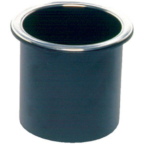 Beckson Marine Glass Holder Black with Chrome Rim Gh33B1C