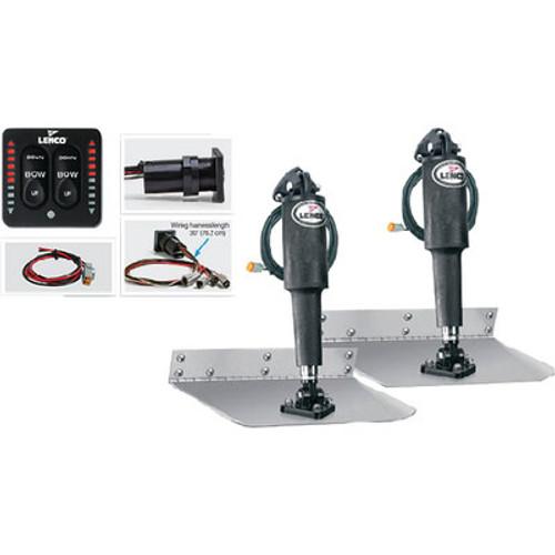 Lenco Trim Tab Kit-Std 9X12 W-LED Sw 15108-103