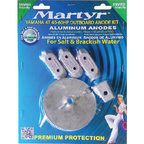 Martyr Anodes Anode-Yamaha 4T 40-60 Hp Ob Aluminum Cmy4060Kita