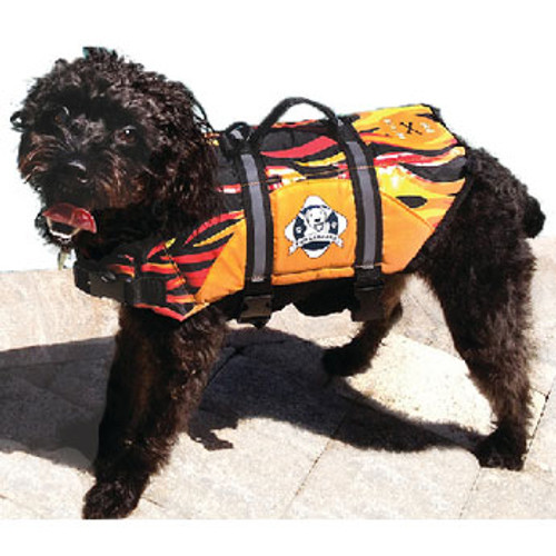 Paws Aboard Doggy Life Jacket XL Flames F1600