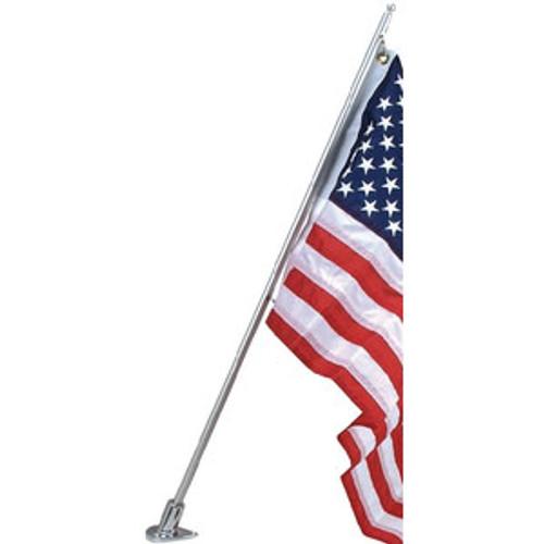 Perko Flag Pole & Socket Angled Zinc 1278Dp2Chr
