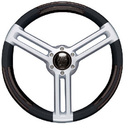 Uflex Steering Wheel Black Silver Doriabb